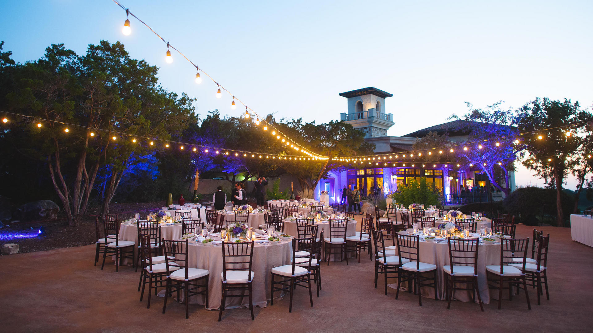 outdoor wedding reception at la cantera resort