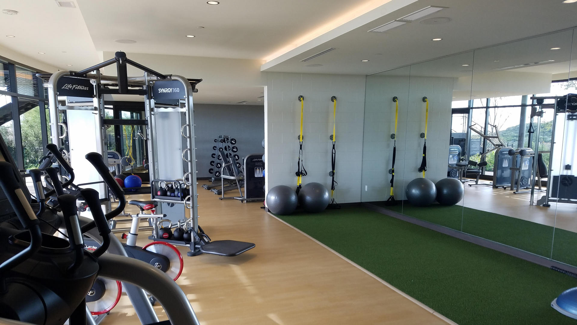 fitness center at la cantera resort