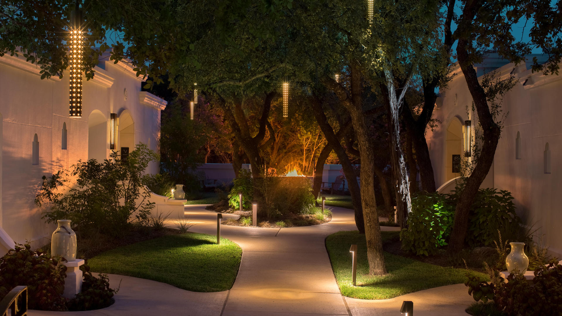 outdoor walkway at la cantera resort