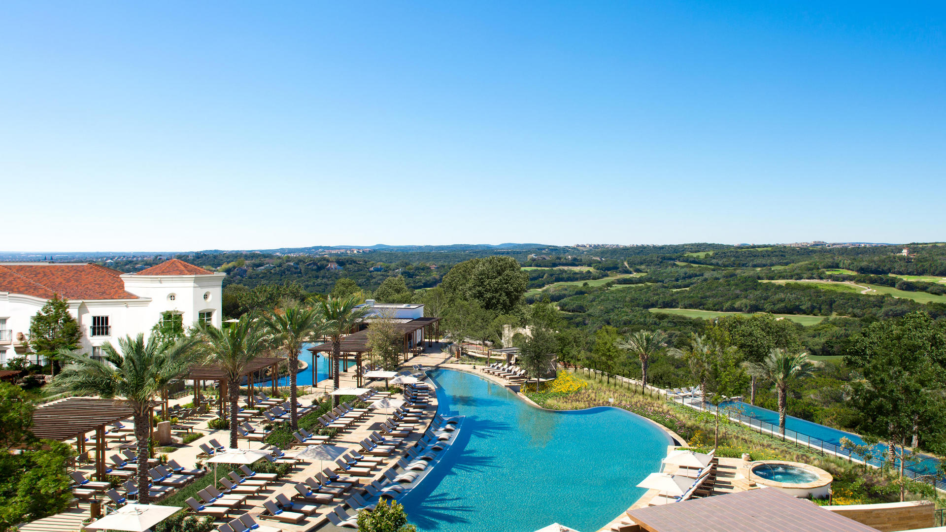 overview of pool at la cantera resort and spa
