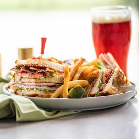 turkey sandwich with french fries