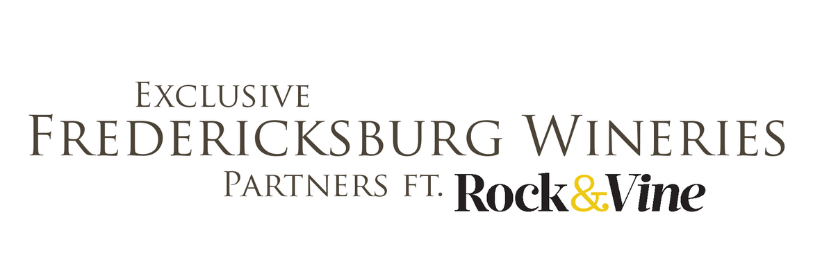 exclusive fredericksburg wineries logo with rock and vine