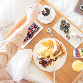 breakfast in bed